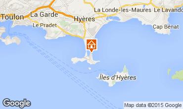 Map Hyères Apartment 5840