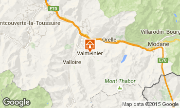 Map Valmeinier Apartment 3436