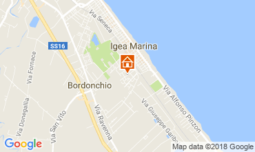 Map Bellaria Igea Marina Apartment 105282