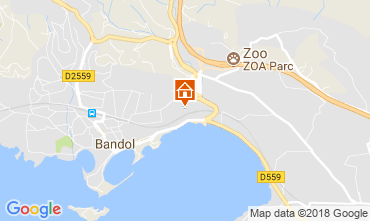 Map Bandol One-room apartment 116007