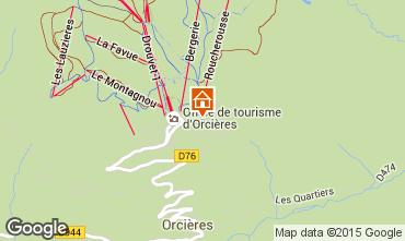 Map Orcières Merlette Apartment 20491