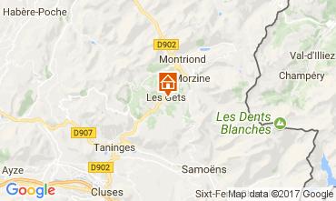 Map Les Gets Apartment 112825