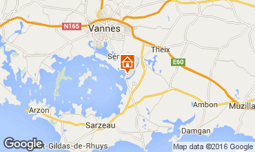 Map Vannes Vacation rental 84538