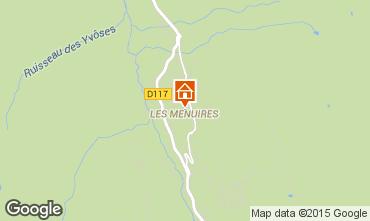 Map Les Menuires One-room apartment 1724
