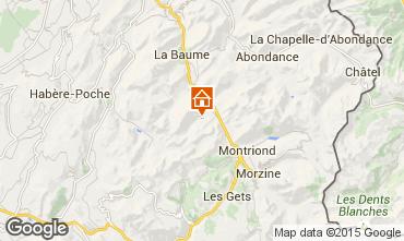 Map Saint Jean d'Aulps- La Grande Terche One-room apartment 43164