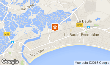 Map La Baule One-room apartment 64177