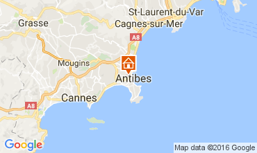 Map Antibes Apartment 106323