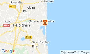 Map Canet-en-Roussillon Mobile home 117254