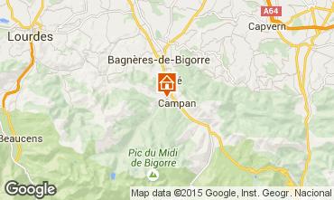 Map Bagnères de Bigorre Vacation rental 70295