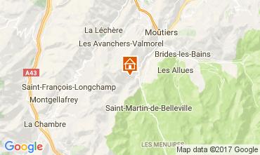 Map Saint Martin de Belleville Chalet 106487