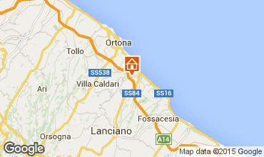 Map San Vito Chietino Apartment 83371