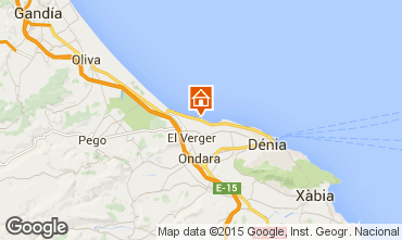 Map Denia Apartment 76203