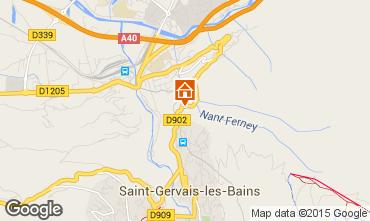 Map Saint Gervais Mont-Blanc Chalet 101701