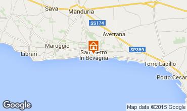 Map Manduria Apartment 73223