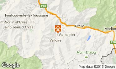 Map Valloire Chalet 3392