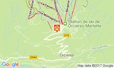 Map Orcières Merlette Apartment 50329