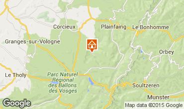 Map Gérardmer Chalet 94127