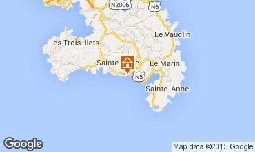 Map Sainte Anne (Martinique) One-room apartment 84903