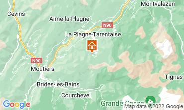 Map La Plagne Apartment 77055
