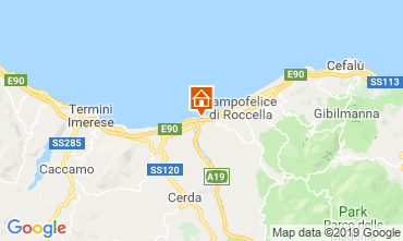 Map Campofelice di Roccella Apartment 76925