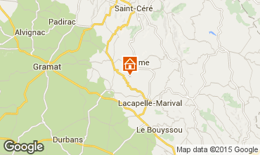 Map Rocamadour Vacation rental 79870