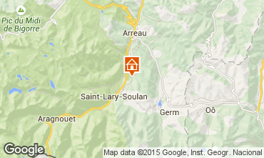 Map Saint Lary Soulan Vacation rental 65220