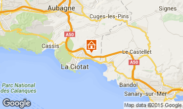 Map La Ciotat Vacation rental 99880