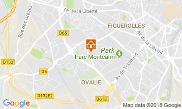 Map Montpellier Apartment 113643