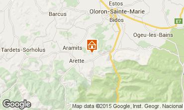 Map Arette La Pierre Saint Martin Vacation rental 52049