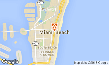 Map Miami Beach One-room apartment 5335