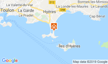 Map Hyères Apartment 118190