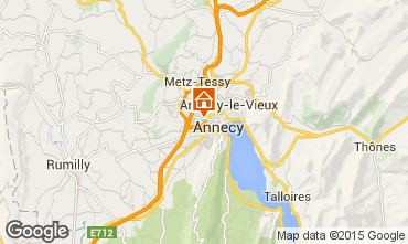 Map Annecy One-room apartment 79533