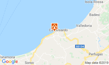 Map Castelsardo Apartment 120003