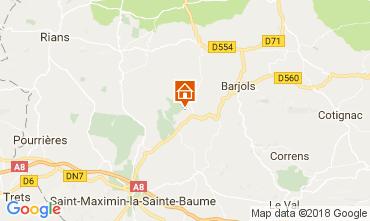 Map Saint Maximin la Sainte Baume Villa 112780