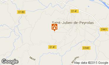 Map Saint-Julien-de-Peyrolas Villa 100704