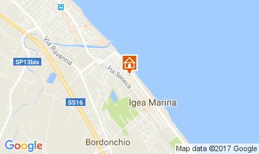 Map Bellaria Igea Marina Apartment 107982