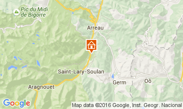 Map Saint Lary Soulan Apartment 41177