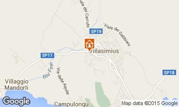 Map Villasimius Apartment 58604
