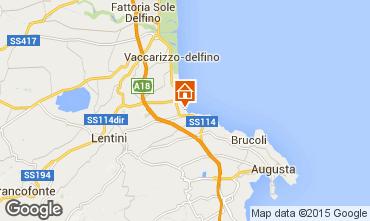 Map Brucoli Apartment 53035