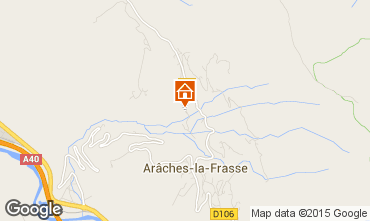 Map Les Carroz d'Araches Vacation rental 634