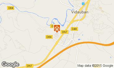 Map Vidauban Vacation rental 88807