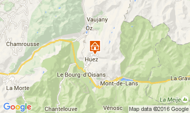 Map Alpe d'Huez One-room apartment 69559