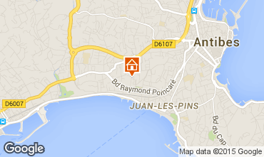 Map Juan les Pins Apartment 80031