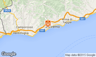 Map Sanremo Apartment 39338