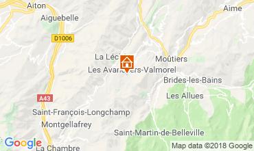 Map Valmorel Apartment 59108