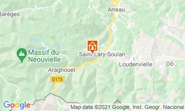 Map Saint Lary Soulan One-room apartment 58811