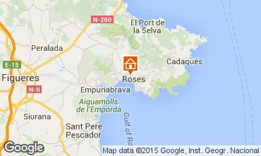 Map Rosas Apartment 68460
