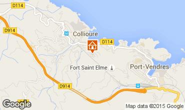 Map Collioure Apartment 15880