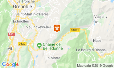 Map Chamrousse Apartment 30487