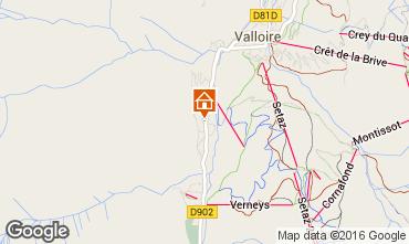 Map Valloire Apartment 101843